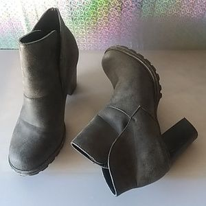Bamboo ankle boots Chunky heel